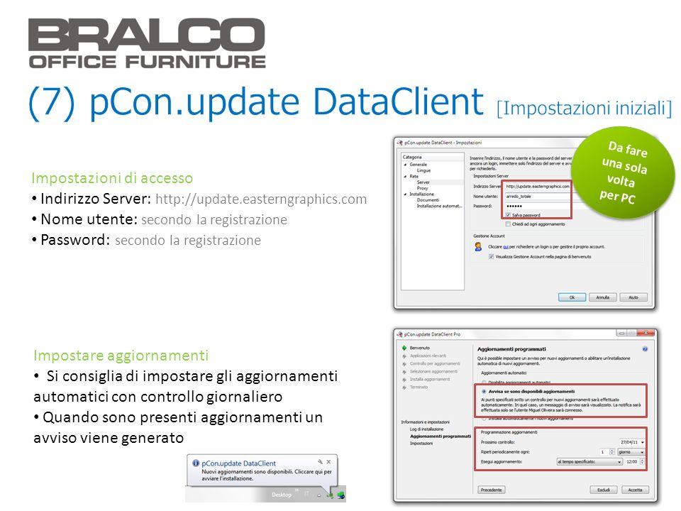 (7) pCon.update DataClient [Impostazioni iniziali]
